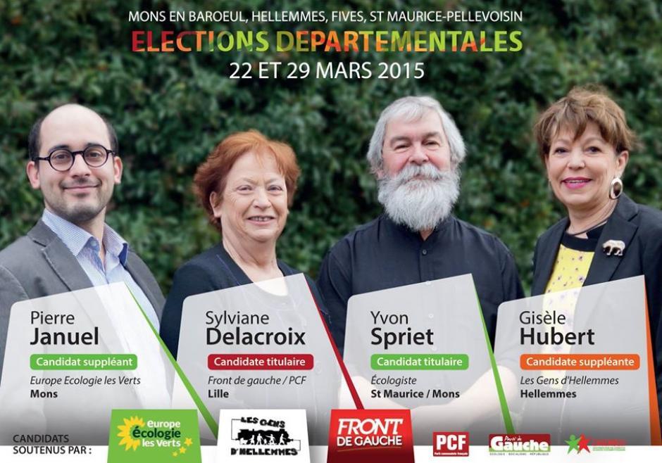 Un Nord solidaire, écologiste et citoyen - Sylviane Delacroix et Yvon Spriet aux éléctions départementales !
