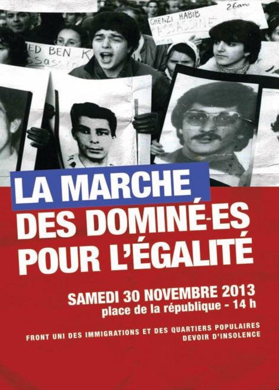 Marche pour l'égalité et contre le racisme - Samedi 30 Novembre à Lille !